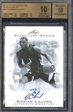 2012-13  Damian Lillard  Leaf Signature Series  Autograph Rookie BGS 10 Pristine