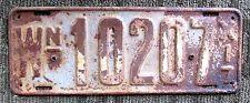 Rare 1917 WASHINGTON LICENSE PLATE 10207 vintage antique auto car art sign WA US