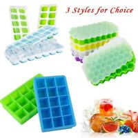 Silicone Ice Cube Tray Ice Jelly Maker Mould with Lid for Cocktail Party