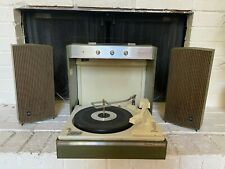 Vintage Portable GE Mustang II Turntable Record Player Green