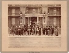 Large Photo Male & Female Cyclists & Bicycles - Clacton-On-Sea April 29th 1898