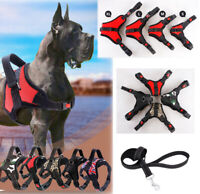 Adjustable Dog Vest Harness Leash Collar Set with Handle Small/Medium/Large/XL
