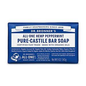 💚 Dr. Bronner Organic Peppermint Pure-Castile Bar Soap 140g