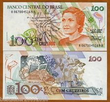BRAZIL 100 CRUZEIROS UNC  # 38
