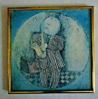 1973 G RODO BOULANGER 4 FRAMED HANGING 'LITTLE MUSICIANS' LITHOGRAPH PRINTS EUC