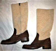 Vintage UGG Australia Fur Shaft Suede Western Style Side Zipper Size 7.5