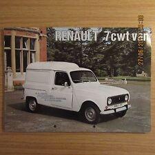 RENAULT 7CWT 7 CWT R2106 Van UK Market Foldout Sales Brochure 1974-1975