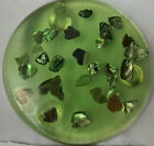 Resin Clearcast Trivet with Abalone Shell Chips  Beatiful Shade of Green!