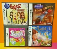 Kids Game Lot Nintendo DS DS Lite 3DS 2DS Bratz Ratatouille Squinkies TinkerBell