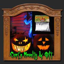 BAG OF 12 MEDIUM PUMPKIN TEETH Halloween Haunted Prop