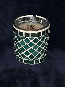 New! Limited Edition WoodWick MOSAIC GLASS - SEA CORAL - 10 oz candle Wood Wick