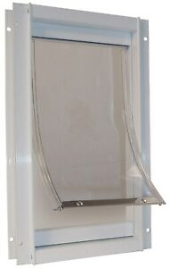 "Ideal Pet Products Ddxlw 12-5/8"" X 18-13/16"" Extra-Large White Deluxe Pet Door"