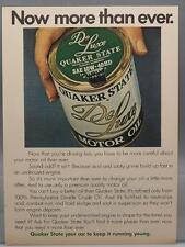 Vintage Magazine Ad Print Design Advertising Quaker State DeLuxe Motor Oil