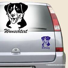 Appenzeller Sennenhund Autoaufkleber mit Wunschtext 15cm Hundeaufkleber 0358