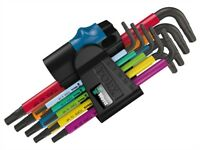 Wera 967 SL/9 Holding Function Torx L-Key Set of 9 (TX8-TX40)