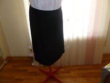 NWT Eileen Fisher $148 Black Matte Jersey Angled Hem Knee Length Skirt size 2X.