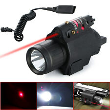 Tactical Insight Red Laser CREE Q5 LED 300 Lumen Flashlight For Pistol Gun New
