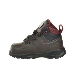 NEW! NIKE MANOA LTH (TD) BOOTS BLACK TEA/RED TODDLERS SIZE 9C (472650 200)