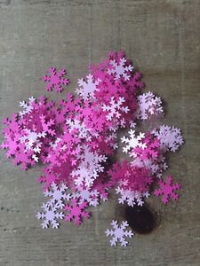 """Snowflake Table Confetti 1"""" CARD 150 Pink Frozen Christmas"""