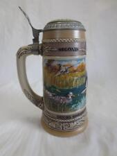 1989 Ducks Unlimited Mallard Stein w/ Hinged Lid - Waterfowl Series