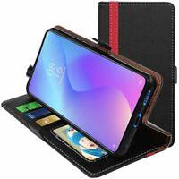 Coque Xiaomi Mi 9 T mi9 pro K20 Etui Portefeuille Housse PU Cuir, Noir / Rouge