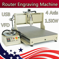 Usb 4 Axis Cnc 6090 Router Engraver Metalwork 3d Milling Drilling Machine 15kw