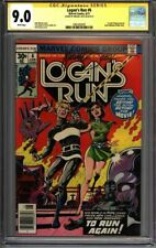 * LOGAN'S Run #6 CGC 9.0 Signed Mike Zeck 1st solo THANOS! (1961003007) *