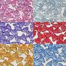 20x 25mm Glitter Resin Bows Shabby Chic Flatbacks Craft Embellishments-6 Colours