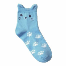 Cat Footprints Socks Cute Cartoon Women's Fashion Cotton Tube Socks