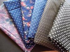 2 Yards Fabric Material Quilting Sewing Crafts Cotton  6 Pieces @ 1/3 Yard Each!
