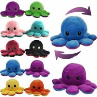 Octopus Plush Reversible Pillow Double Sided Happy Sad Flip for Kids