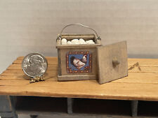 """Artisan DH 09"""" Wooden Egg Crate with Rooster Dollhouse Miniature 1:12"""