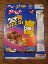 Kelloggs Raisin Bran Crunch Cereal - Bart Simpson - Empty Box - 2003