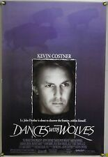DANCES WITH WOLVES DS ROLLED ORIG 1SH MOVIE POSTER KEVIN COSTNER WESTERN (1990)
