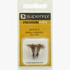 SUPERFLY PREMIUM FLIES DRY FLY ADAM'S IRRESISTIBLE SIZE # 12 2 PACK  (B6)
