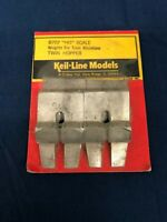Keil Line Models HO Scale Weights For Train Miniature Twin Hoppers 8707