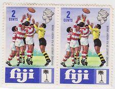 (FA-89) 1971 Fiji 2c women's Foot ball pair MH