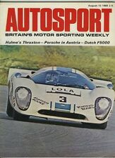 AUTOSPORT AGOSTO 15th 1969 * FIAT 124 SPECIAL ROAD TEST *