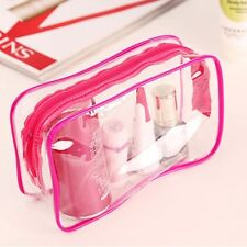 Travel PVC Cosmetic Bags Women Transparent Clear Zipper Makeup Bags Organizer