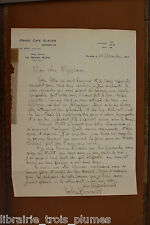 ✒ L.A.S. Valère BERNARD écrivain Provence à Paul MYRRIAM 1922