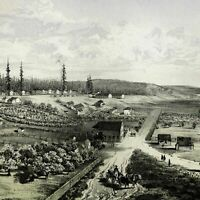 Fort Vancouver Washington Territory 1855-60 Western U.S. old nice view print