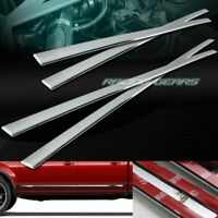 CHROME ABS PLASTIC BODY SIDE MOLDING TRIM 4PCS FIT 15-19 FORD F150 CREW CAB 4-DR