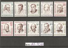 Berlin Mi-Nr.: 163-72  Männer Berlins 1957 sauber postfrischer Satz