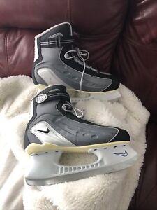 Nike Flexposite Men's 9 Ice  Hockey Skates RARE Grey And Navy