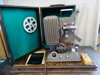 Vintage Keystone 8mm Movie Projector Model L-8 with Carrying Case & Manual
