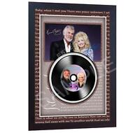 NEW! Kenny Rogers Dolly Parton  MUSIC  SIGNED FRAMED PHOTO LP Vinyl