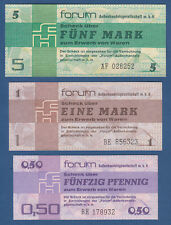 DDR 50 Pfennig, 1 , 5 Mark Forum 1979  KASSENFRISCH  Ro.367, 368 , 369