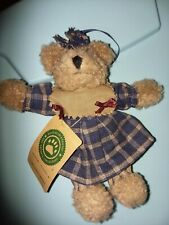 """Boyds Bears #56271 Cappuccino Frenzy, 5"""" Plush Ornament Blue and Red"""