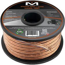 Mediabridge 14AWG 2-Conductor Speaker Wire (100 Feet, Clear)- SW-14X2-100-CL