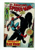 Amazing Spider-man #86, VG- 3.5, Black Widow Gets Iconic Costume